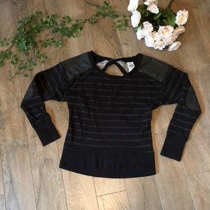 Victoria Secret Sport XS Black Sweater Long Sleeve